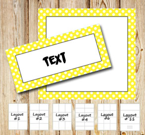 Labels with a white dotted yellow frame  | Free printable labels