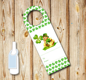 Neck tags for St Patricks day  | Free printable for St Patricks day