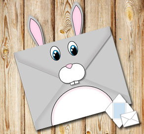 Animal envelope: Bunny  | Free printable envelopes