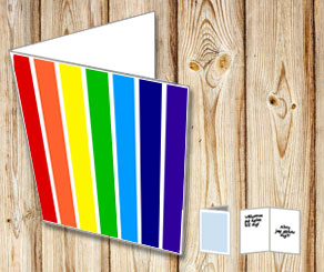 Striped card with rainbow colors 2  | Free printable card