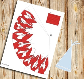 craw fish party hat  | Free printable for the Crayfish party