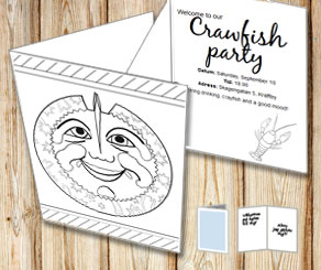 Invitation: Crawfish party to color yourself  | Free printable for the Crayfish party