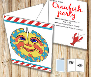Invitation: Crawfish party 1  | Free printable for the Crayfish party