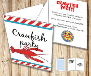 Invitation: Crawfish party 3  | Free printable for the Crayfish party