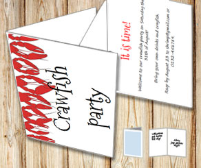 Invitation: Crawfish party 4  | Free printable for the Crayfish party
