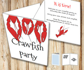 Invitation: Crawfish party 5  | Free printable for the Crayfish party