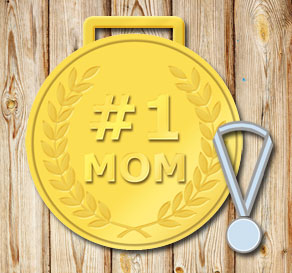Gold medals: #1 Mom  | Free printable for Mothers day