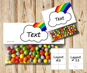 Bag toppers with cloud and rainbow  | Free printable bag topper