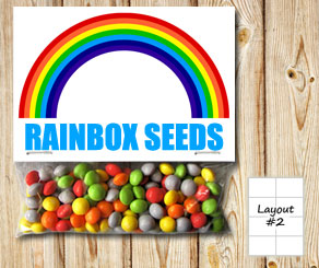 Bag toppers with rainbow  | Free printable bag topper