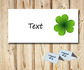 Placement cards with green shamrock  | Free printable for St Patricks day