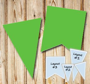 Green pennants for St Patricks day  | Free printable for St Patricks day