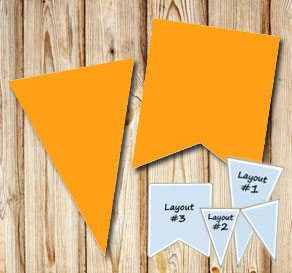 Orange pennants for St Patricks day  | Free printable for St Patricks day